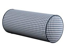 Dekoria Poduszka wałek prosty, granatowo biała krateczka (0,5x0,5cm), Ø16 × 40 cm, Quadro