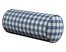 Dekoria Poduszka wałek prosty, granatowo biała kratka (1,5x1,5cm), Ø16 × 40 cm, Quadro
