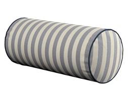 Dekoria Poduszka wałek prosty, granatowo białe pasy (1,5cm), Ø16 × 40 cm, Quadro