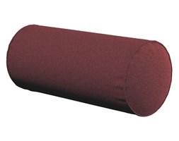 Dekoria Poduszka wałek prosty, ciemno bordowy szenil, Ø16 × 40 cm, Living