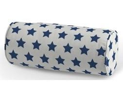Dekoria Poduszka wałek prosty, granatowe gwiazdy na białym tle, Ø16 × 40 cm, Ashley