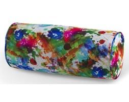 Dekoria Poduszka wałek prosty, kolorowe mazaje na białym tle, Ø16 × 40 cm, New Art