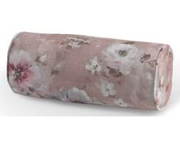 Dekoria Poduszka wałek prosty, kremowe i różowe kwiaty na ciemno różowym tle, Ø16 × 40 cm, Monet