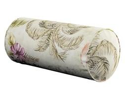 Dekoria Poduszka wałek prosty, kolorowe motywy roślinne i czaple na beżowym tle, Ø16 × 40 cm, Tropical Island