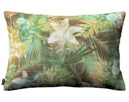 Dekoria Poszewka Kinga na poduszkę prostokątną, zielone liście na brązowo- zielonym tle, 60 × 40 cm, Tropical Island