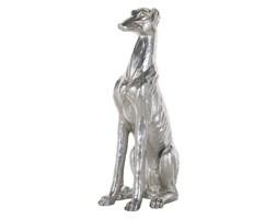 Figurka dekoracyjna srebrna 80 cm GREYHOUND