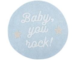 Dywan Baby, you rock! Ø120 cm błękitny