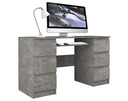 Biurko komputerowe Tuba szuflad / Beton