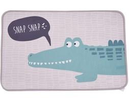 Dywanik dziecięcy szaro-zielony krokodyl 50x78 cm