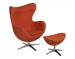 Fotel + podnóżek wełna Jajo D2 pomarańczowy kod: 5902385723299