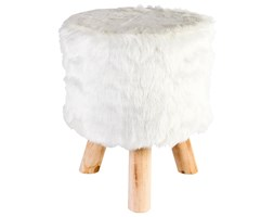 Taboret FUR WHITE, stołek, podnóżek