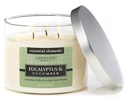 Świeca zapachowa Candle-lite Essential Elements naturalna olejki eteryczne - Eucalyptus & Cucumber