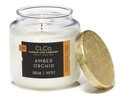 Świeca zapachowa Candle-lite CLCo duża w szkle - Amber Orchid