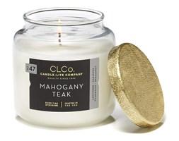 Świeca zapachowa Candle-lite CLCo duża w szkle - Mahogany Teak