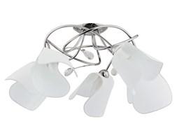 Lampa sufitowa żyrandol nowoczesny SENSO chrom/biały śr. 45cm