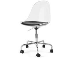 Krzesło Bonni Mimi transparentne nogi chromowe na kółkach
