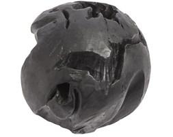 Duża kula dekoracyjna czarna Onua30 z drewna tekoweo MUUBS