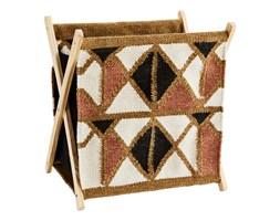 Tkany stojak na czasopisma i książki z bawełny i drewna mango MADAM STOLTZ