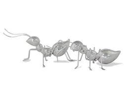 MRÓWKI figurka, dekoracja srebrna, komplet 2 sztuk, 11x23X15 oraz 8x23x16  cm