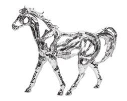 GALOPUJĄCY KOŃ figurka srebrna, wys. 37 cm