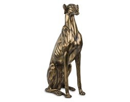 PIES CHART SIEDZĄCY figurka, dekoracja złota, wys. 80 cm