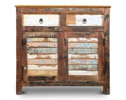 Indiasoho - Komoda wykonana w 100% ręcznie z drewna odzyskanego ze starych domów i łodzi pochodzenia indyjskiego. Drewno odzyskane