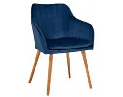 Krzesło do salonu Alys niebieskie welur