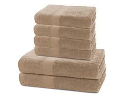 Komplet 2 beżowych ręczników kąpielowych i 4 ręczników DecoKing Marina