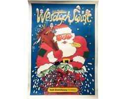 Plakat teatralny Wesołych Świąt, lata 70.