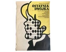 Plakat do filmu Ostatnia dwójka, proj. M. Żbikowski, lata 70.