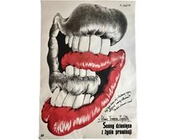 Plakat filmowy Sceny dziecięce z życia prowincji, proj. E. Lutczyn, lata 80.