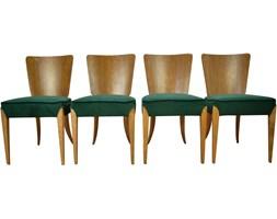 Komplet czterech krzeseł, proj. J. Halabala, Czechy, lata 50.