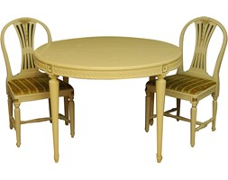 Komplet stołu i dwóch krzeseł, lata 60.