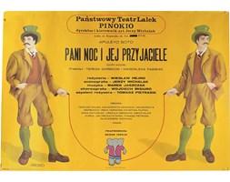 Plakat z Teatru Lalek Pani noc i jej przyjaciele, lata 80.