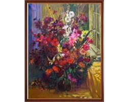 Obraz olejny Kwiaty, J. Kapłański, 2005 r.