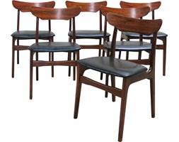 Komplet sześciu krzeseł, Schionning  Elgaard, Dania, lata 60.