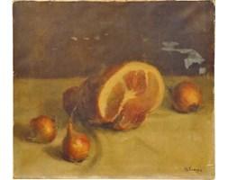 Obraz olejny Martwa natura, aut. M.L Knaeps, Wielka Brytania, XIX w.