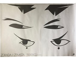 Plakat filmowy Zdrada i Zemsta, proj. M. Wasilewski, 1988 r.