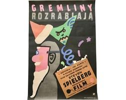 Plakat filmowy Gremliny rozrabiają, proj. J. Młodożeniec, Polska, 1985 r.