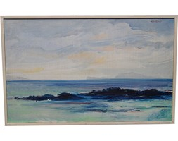 Obraz olejny, aut. B. Ossler, Szwecja, lata 90.