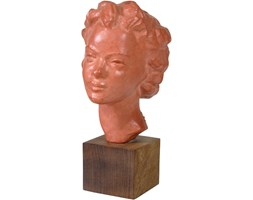 Rzeźba z terakoty, proj. P. Serste, Belgia, lata 60.