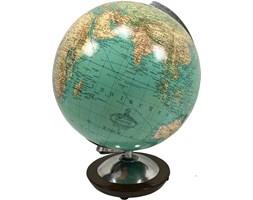Szklany globus podświetlany Duplex, Columbus Duo, Niemcy, lata 60.