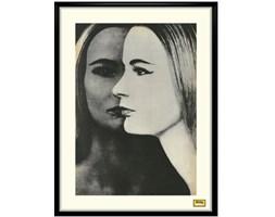 Grafika w ramce, Dwie twarze, lata 60.