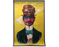 Plakat teatralny Podróż po Warszawie, proj. A. Krauze, 1977 r.