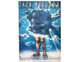 Plakat filmowy Skok jaguara, proj. Obłucki, 1986 r.