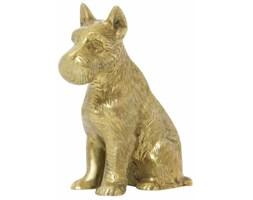 Mosiężna figurka psa