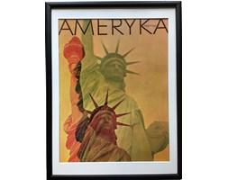 Oprawiona okładka magazynu AMERYKA, aut. R. Breswitz, lata 70.
