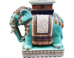 Ceramiczna figurka słonia, lata 80.