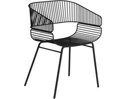 Czarne krzesło Trame, proj. AC/AL Studio, Petite Friture