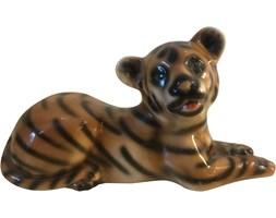Ceramiczna figurka tygrysa, lata 70.